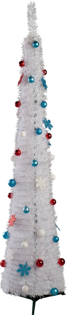 White Pop-Up North Pole Christmas Tree - 6ft