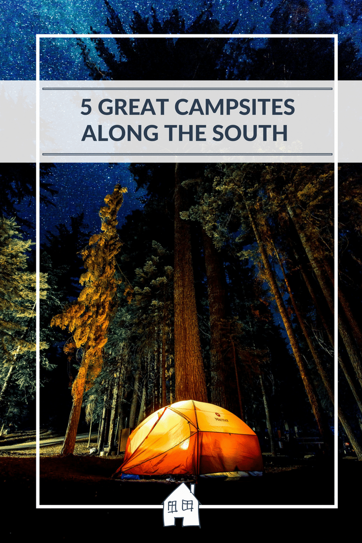 looking for campsites along the south? Then take a look at this for ideas