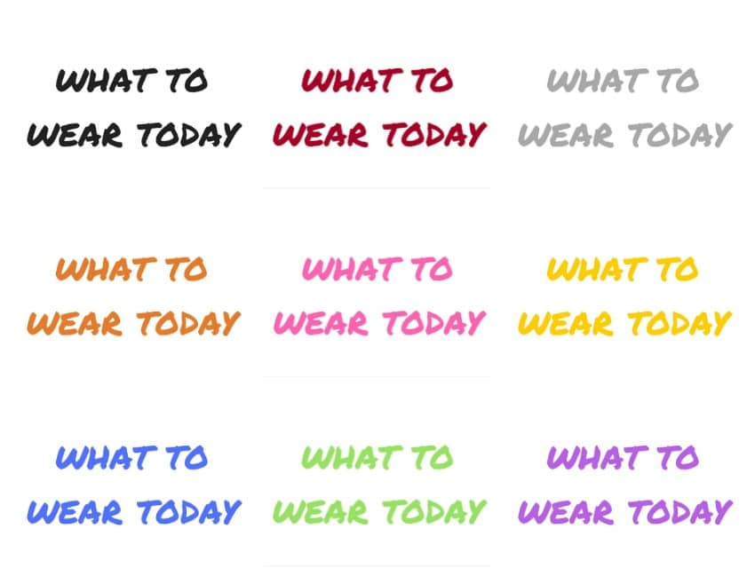 what to wear today hooks