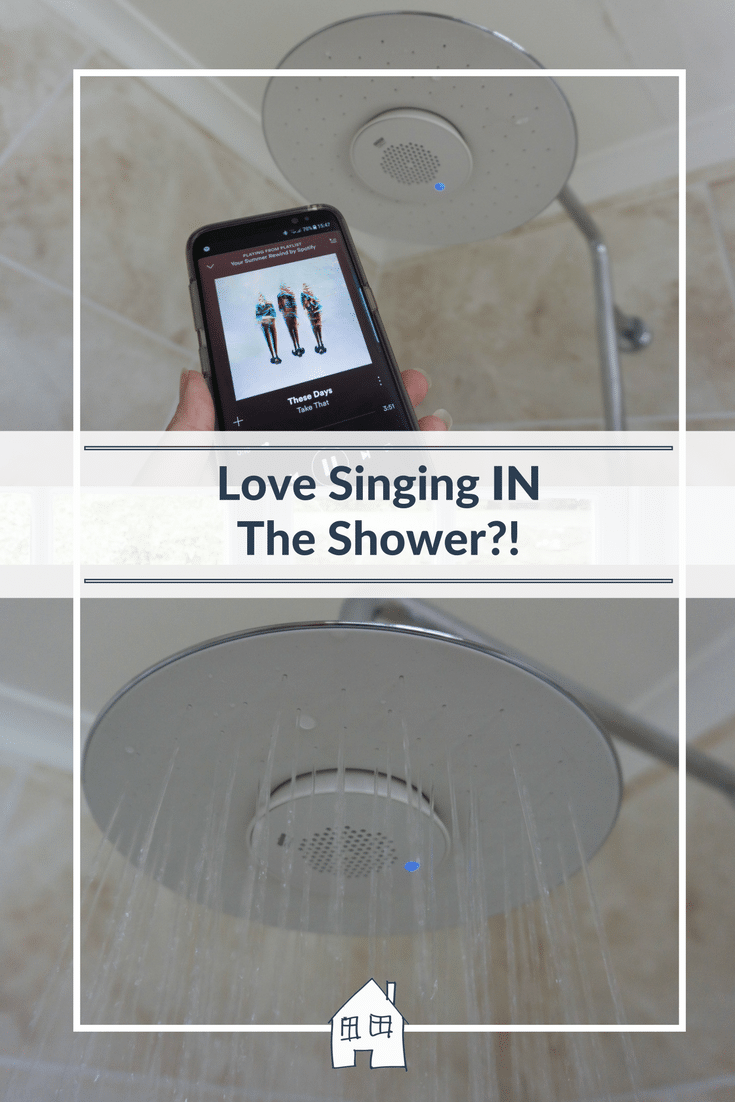Who loves singing in the shower?! Well now you can properly, with the Mira Atom Mixer Shower with Moxie Bluetooth speaker. We can now all sing in the shower, and it looks super nice too with its waterfall shower head and additional handheld shower head too. Great shower