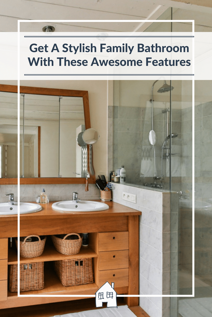 Family bathrooms don't have to be boring, they can be stylish bathrooms but still be a practical family bathroom. Check out these stylish family bathroom features