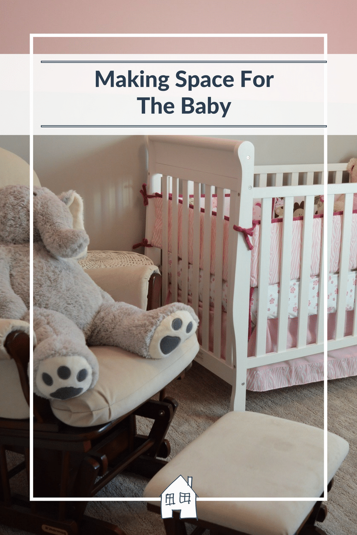 Having a baby? Then you need to make space for the baby!! Believe it or not this tiny little baby takes up so much space, all the baby equipment takes up lots of space