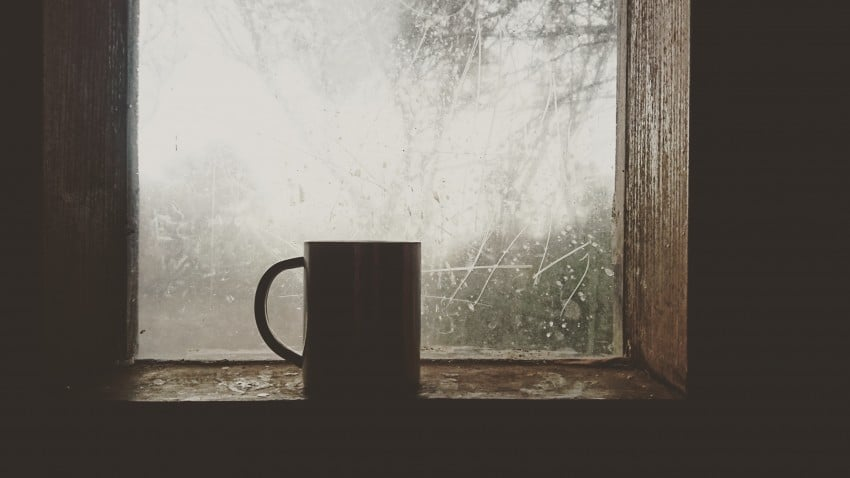 Prepare Your Home's Defences. Mug in the window